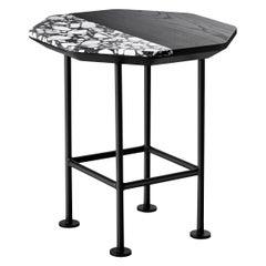 Ringo High Coffee Table in Lacquered Black Legs, by Matteo Zorzenoni