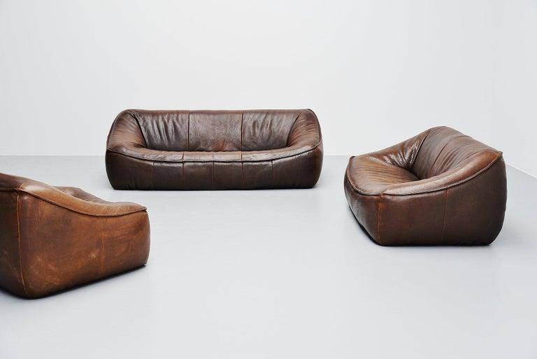 Mid-Century Modern Ringo Sofa Set by Gerard Van Den Berg for Montis, 1970 For Sale