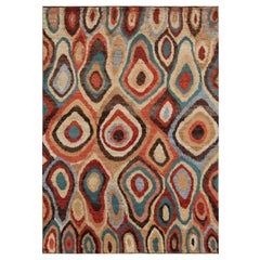 Rio Grande Multicolored Contemporary Hand-Knotted Wool Rug