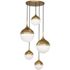 Rio Multi-Arm Brass Chandelier