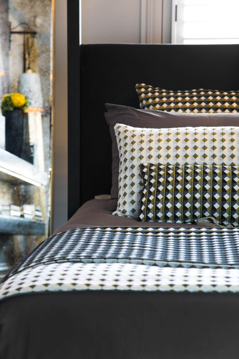 Contemporary Rio Pattern Cushion Curvature Collection Inspired by Brazilian Architecture For Sale
