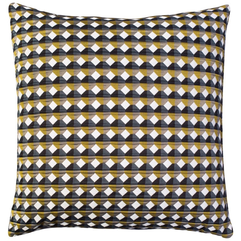 Rio Pattern Cushion Curvature Collection Inspired by Brazilian Architecture For Sale