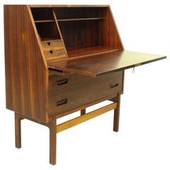 Rio Rosewood Drop Front Secretary Desk by Arne Wahl Iversen for Vinde Mobelfabri