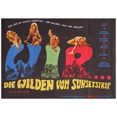 Riot on Sunset Strip 1967 German A0 Film Poster