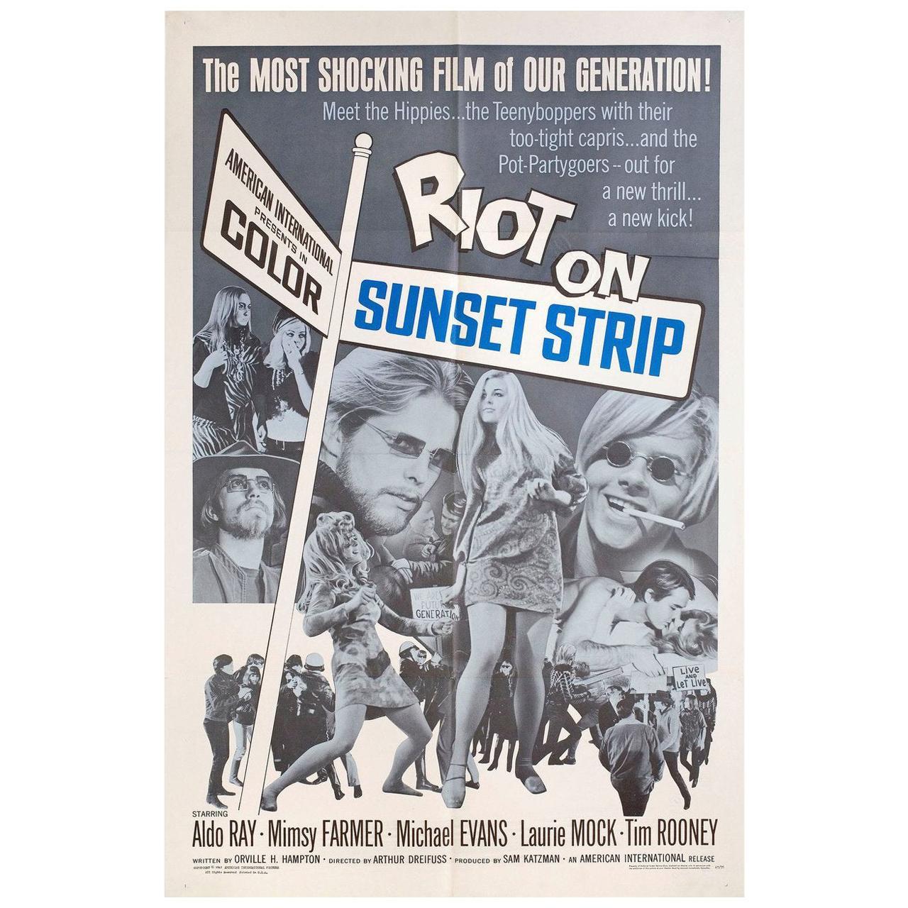 Riot on Sunset Strip 1967 U.S. One Sheet Film Poster