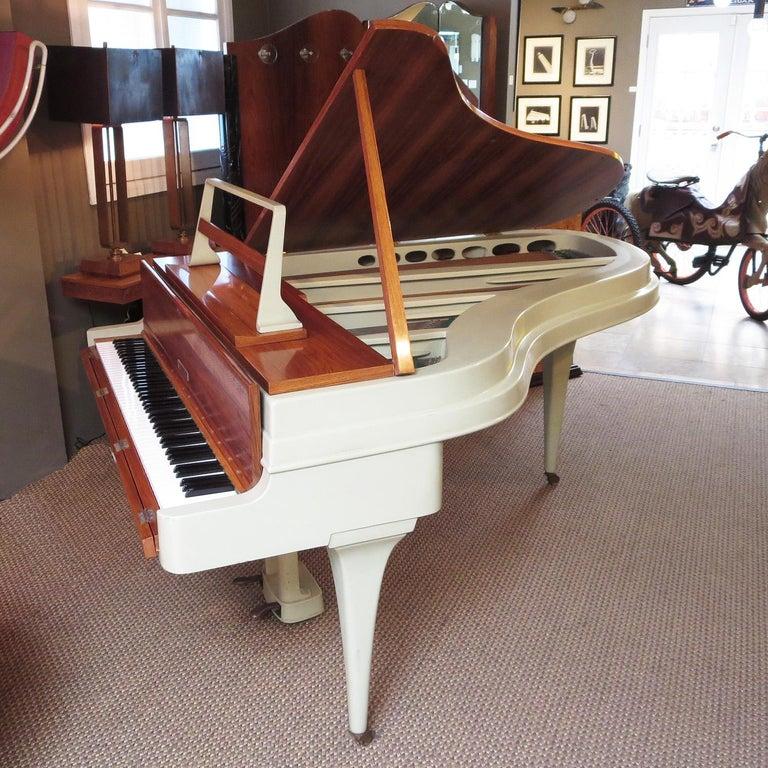 Mid-Century Modern Rippen Aluminum Grand Piano - Midcentury Design For Sale