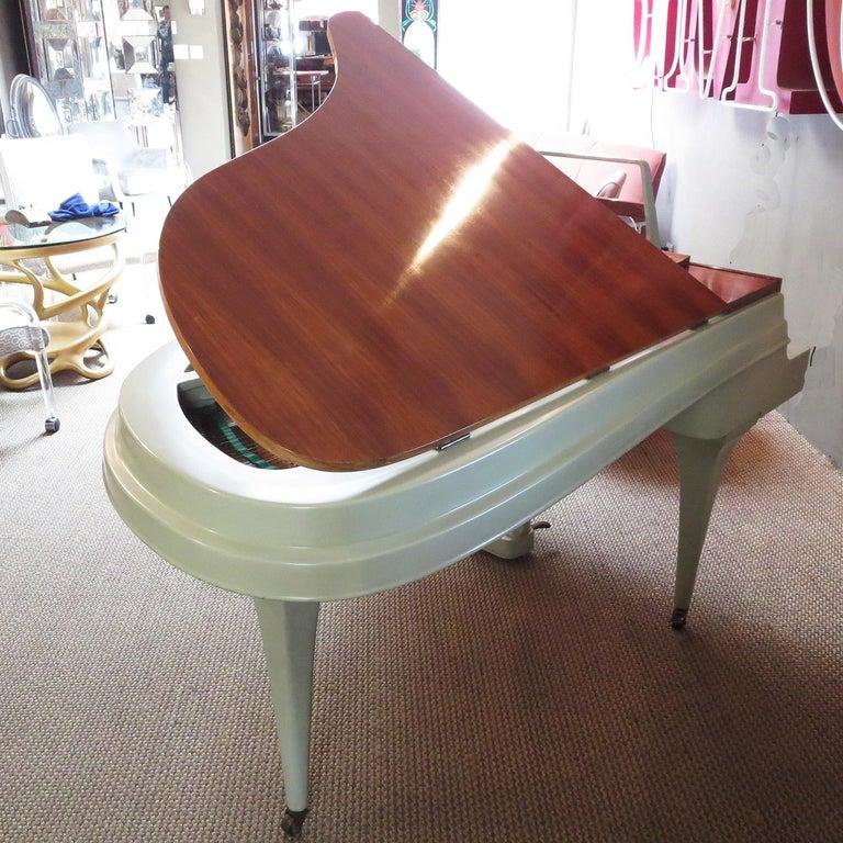 Dutch Rippen Aluminum Grand Piano - Midcentury Design For Sale