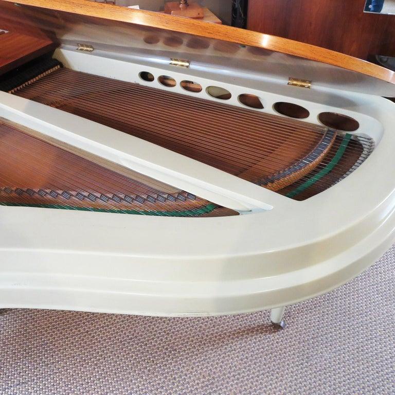 Painted Rippen Aluminum Grand Piano - Midcentury Design For Sale