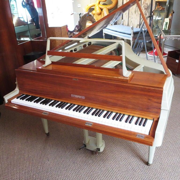 Mid-20th Century Rippen Aluminum Grand Piano - Midcentury Design For Sale