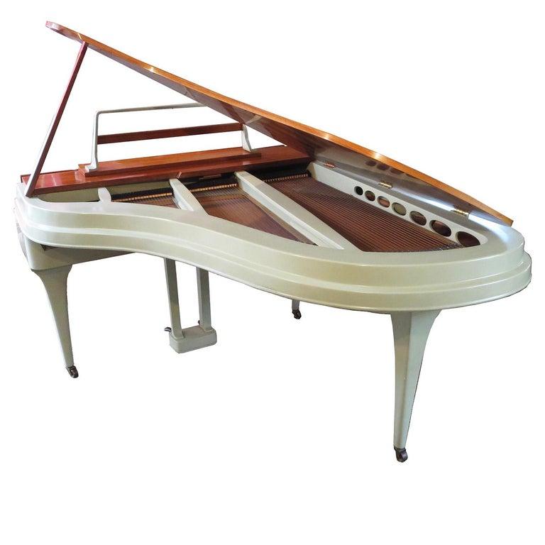Rippen Aluminum Grand Piano - Midcentury Design For Sale
