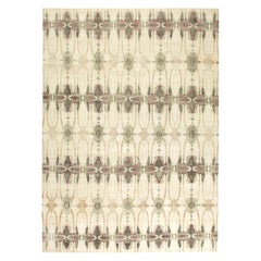 Ripple Pearl Eskayel Cream, Black, Pink and Gray Handwoven Aloe and Silk Rug