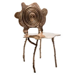 Ripple Rorschach Chair in Bronze by Gregory Nangle