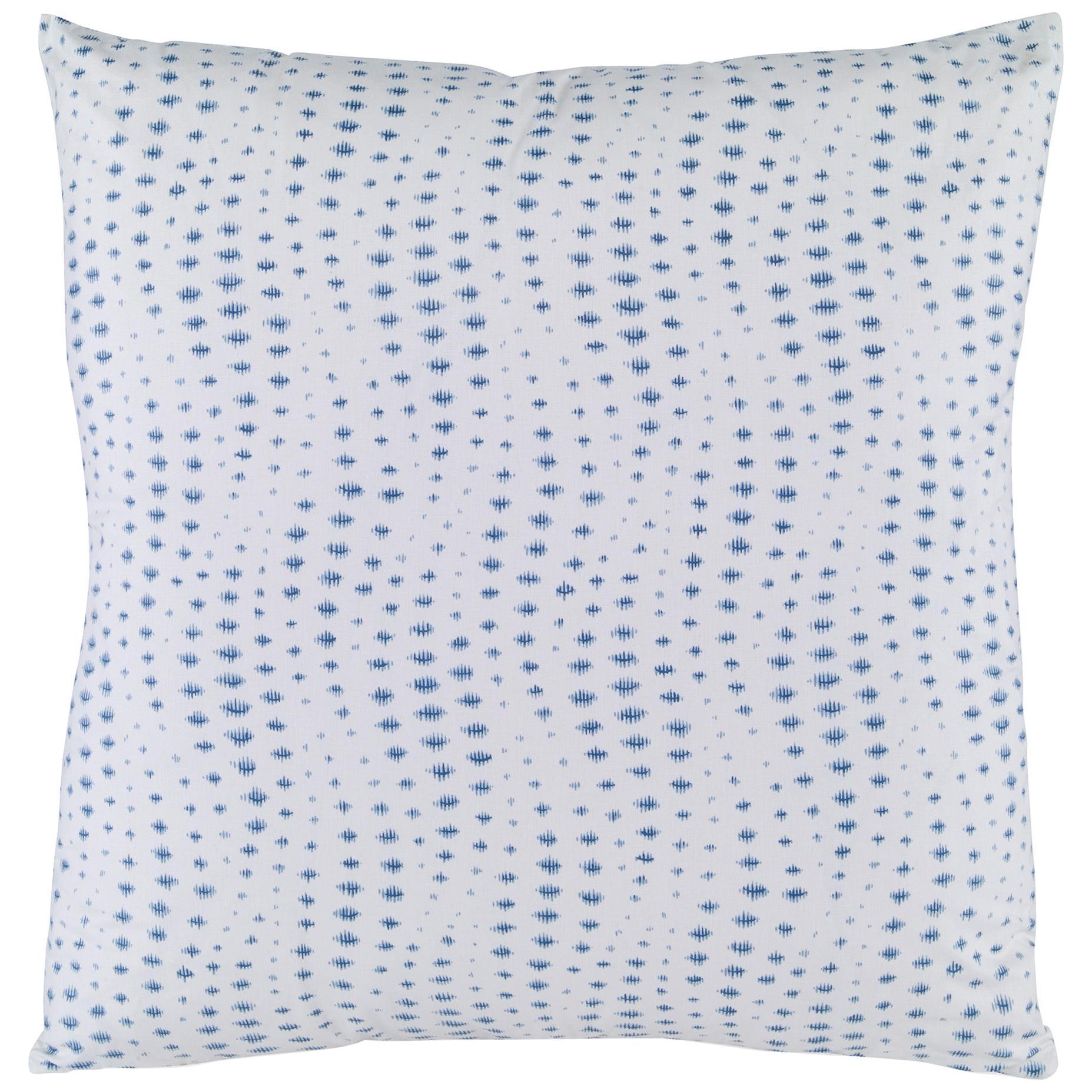 Rippledrop Pillow in Ultramarine by CuratedKravet