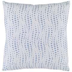 Rippledrop Pillow in Ultramarine by CuratedKravet