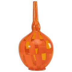 Riquadi Vase Clear and Opaque Orange, Barovier Et Toso