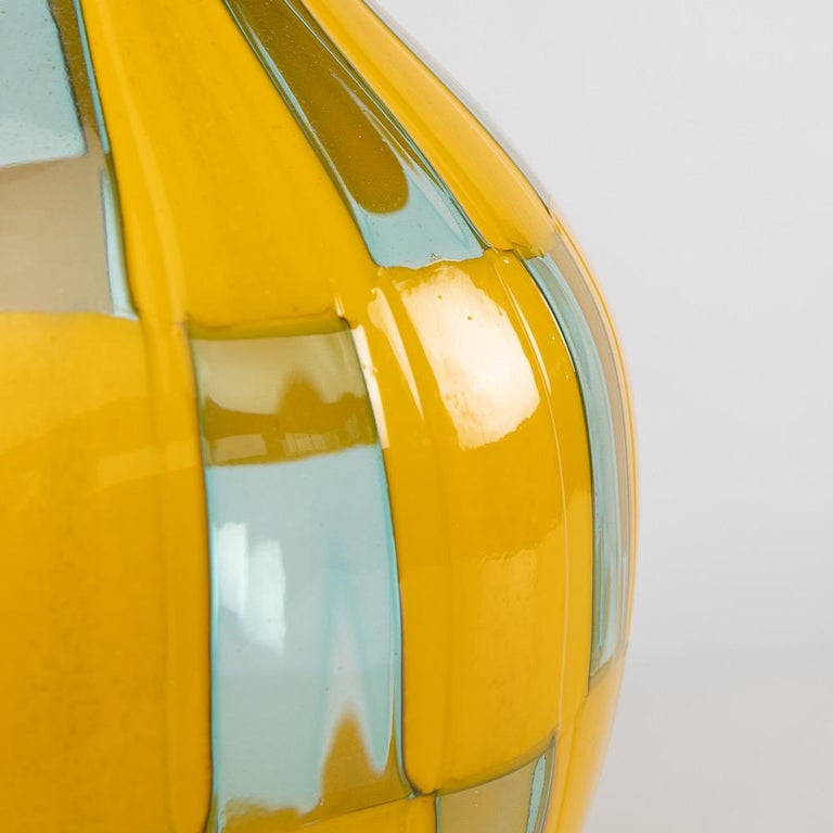 Riquadri Vase Azur Yellow, Barovier e Toso For Sale 1