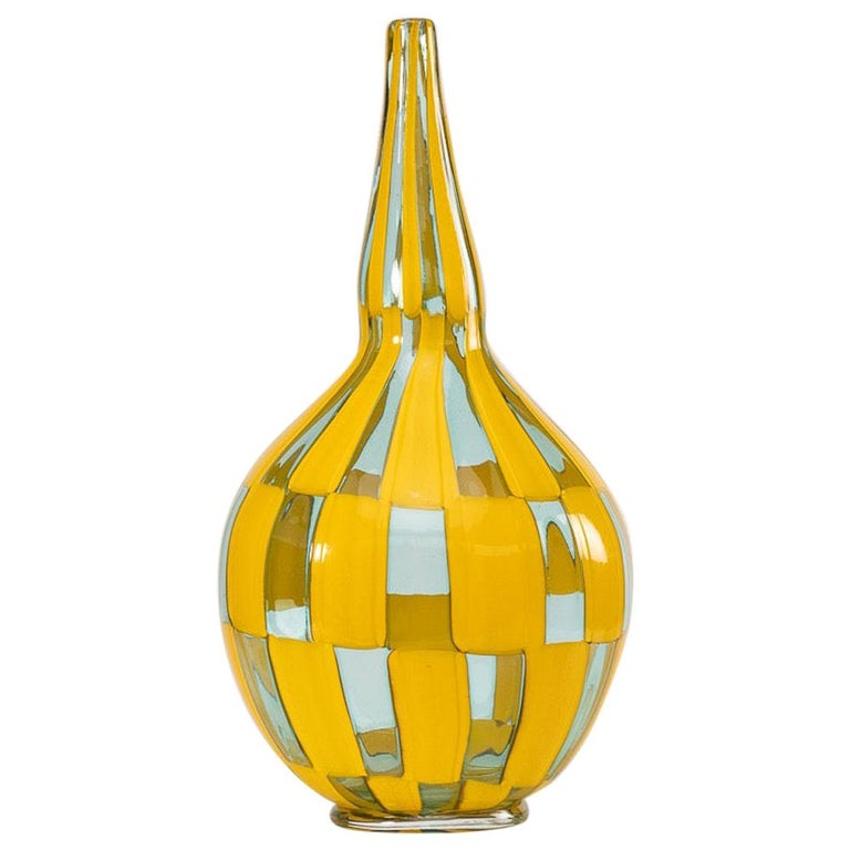 Riquadri Vase Azur Yellow, Barovier e Toso For Sale