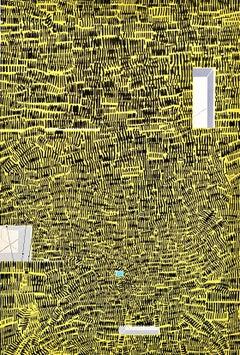 "1969 ""City 40"" Risaburo Kimura Original Mid Century Abstract Silkscreen"