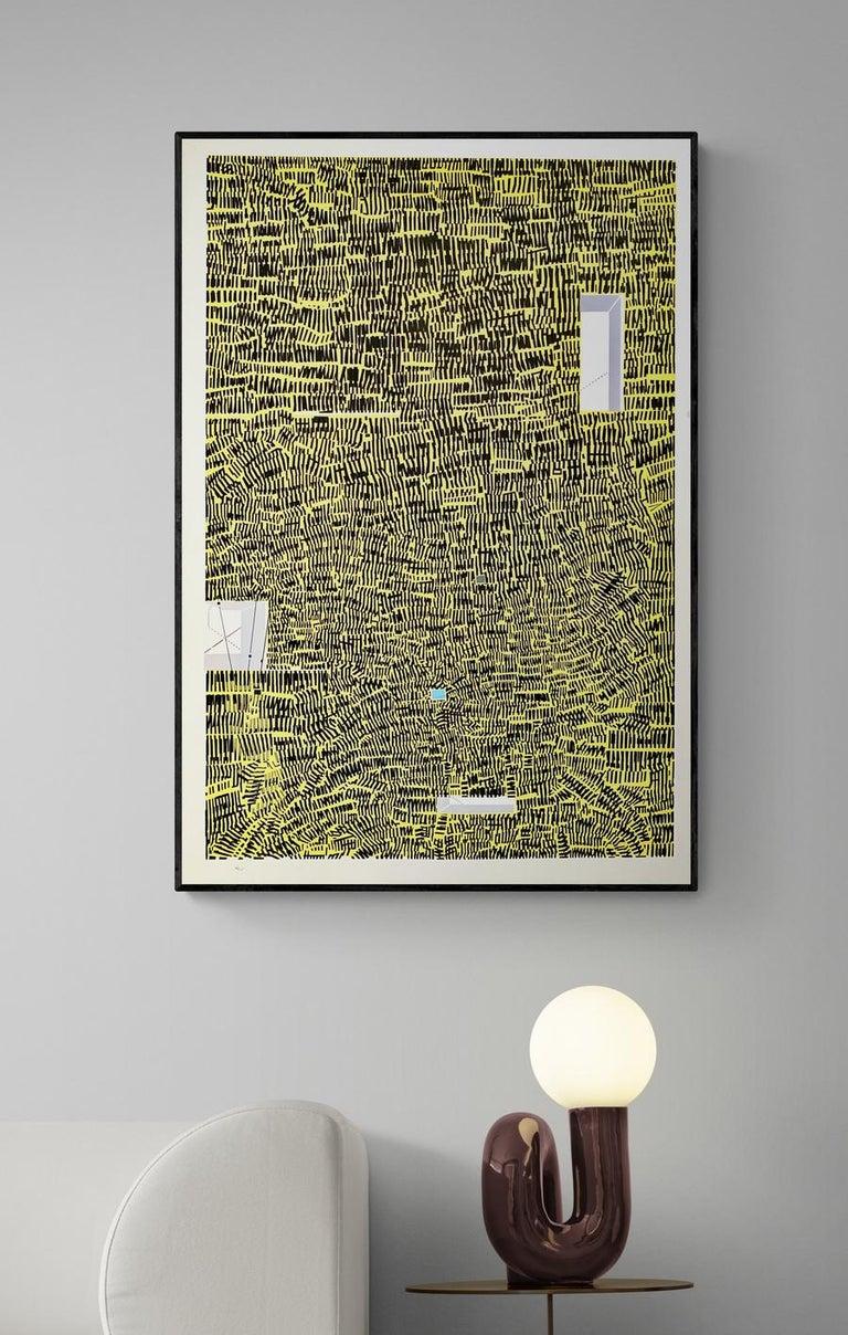 "1969 ""City 40"" Risaburo Kimura Original Mid Century Abstract Silkscreen - Print by Risaburo Kimura"