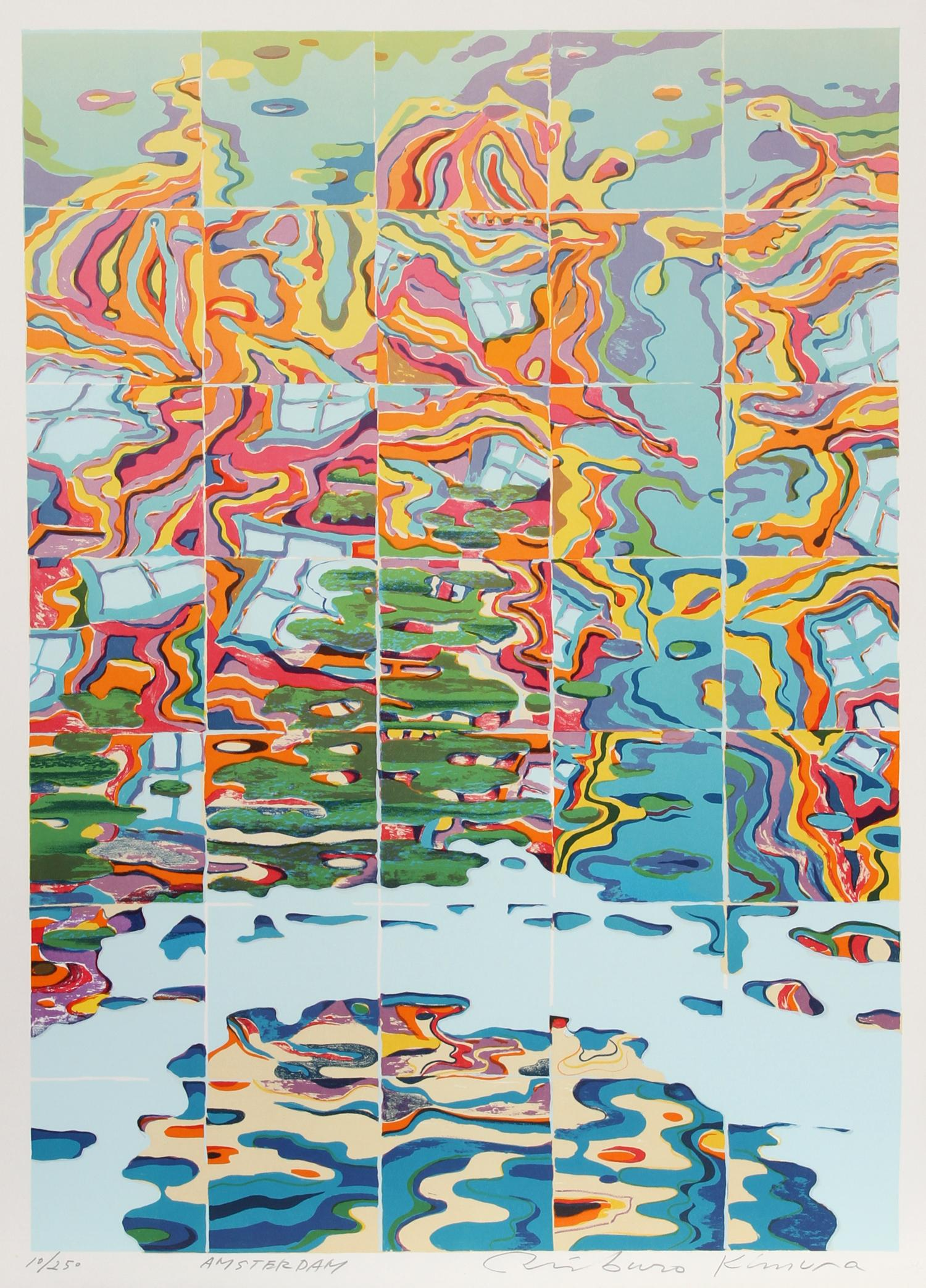 Amsterdam, 1973 Silkscreen by Risaburo Kimura