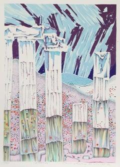 Athens, 1973 Silkscreen by Risaburo Kimura