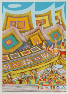 Bangkok, 1973 Silkscreen by Risaburo Kimura