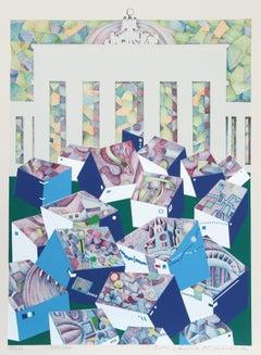 Berlin, 1973 Silkscreen by Risaburo Kimura