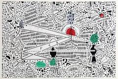 City 0, Geometric Serigraph by Risaburo Kimura