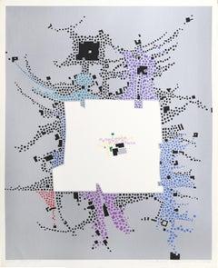 City 145, Geometric Serigraph by Risaburo Kimura