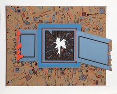 City 358, Geometric Serigraph by Risaburo Kimura
