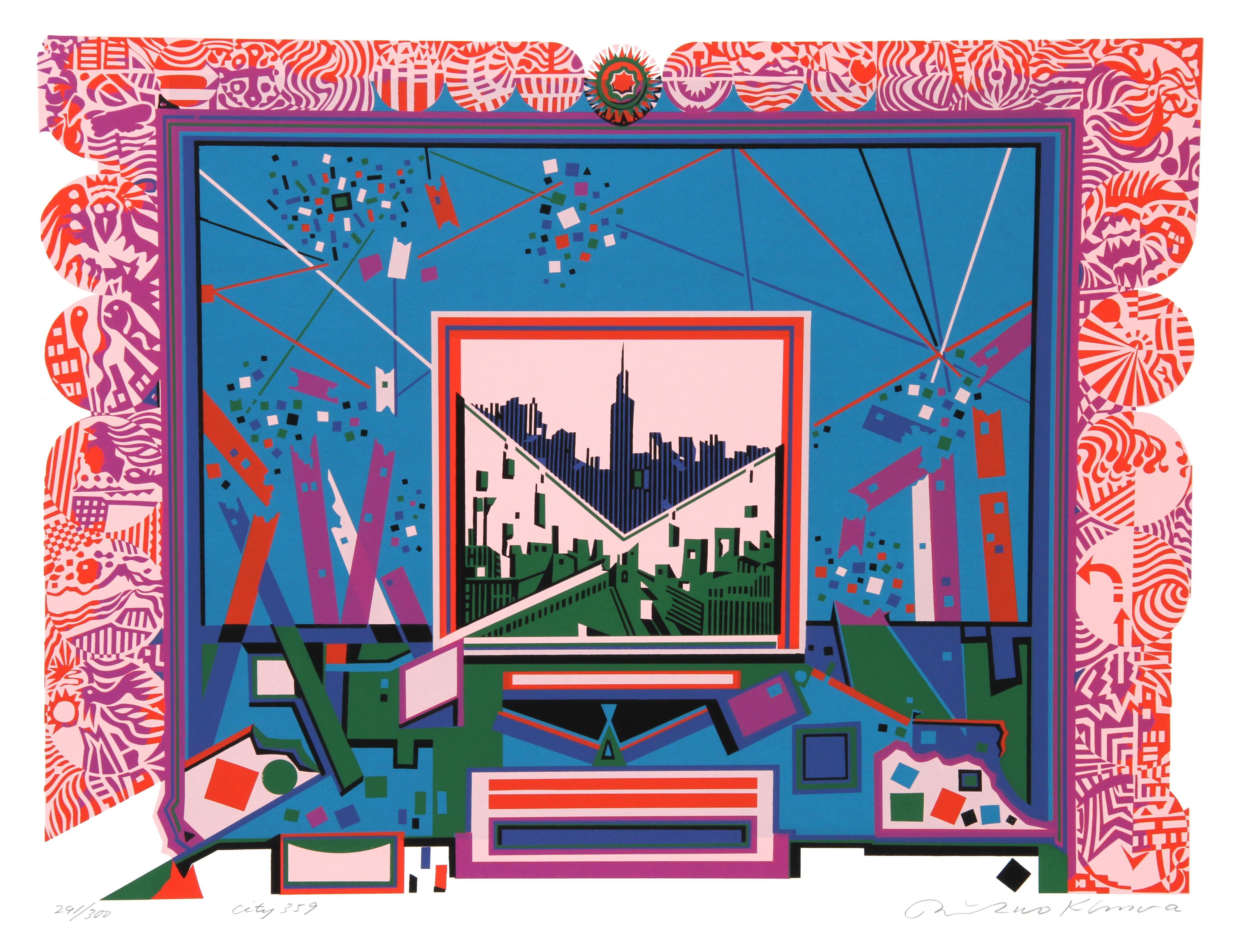 City 359, Serigraph by Risaburo Kimura