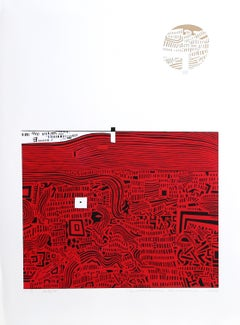City 36, Abstract Print by Risaburo Kimura