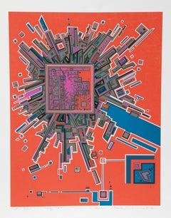 City 361, Serigraph by Risaburo Kimura