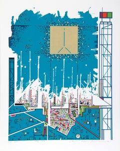 City 362, Serigraph by Risaburo Kimura