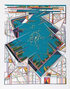 City 363, Serigraph by Risaburo Kimura