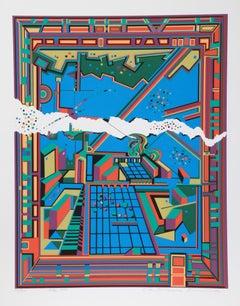 City 364, Serigraph by Risaburo Kimura