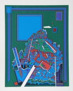 City 365, Serigraph by Risaburo Kimura