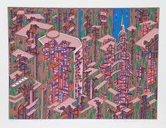 City 366, Serigraph by Risaburo Kimura