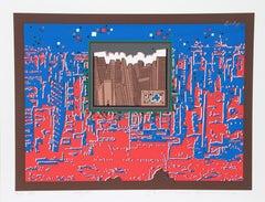 City 367, Serigraph by Risaburo Kimura
