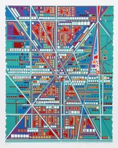 City 368, Serigraph by Risaburo Kimura