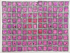 City 52, Geometric Serigraph by Risaburo Kimura