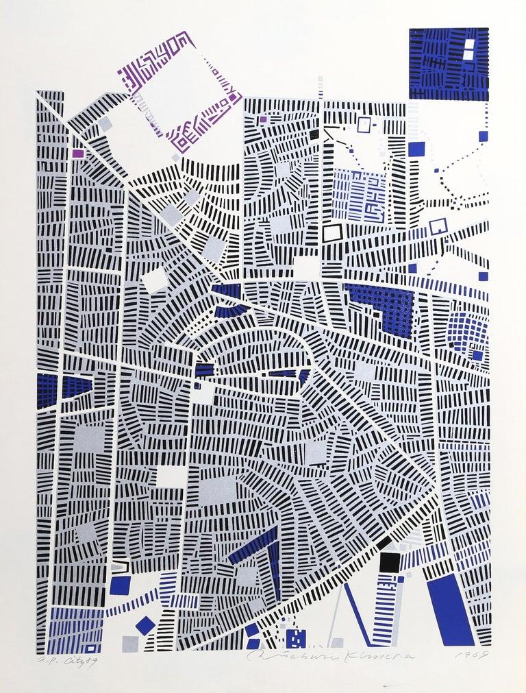 Artist: Risaburo Kimura, Japanese (1924 - ) Title: City 89 Year: 1969 Medium: Silkscreen, signed in pencil Edition: AP Size: 25 x 19 in. (63.5 x 48.26 cm)