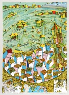 Hong Kong, 1973 Silkscreen by Risaburo Kimura