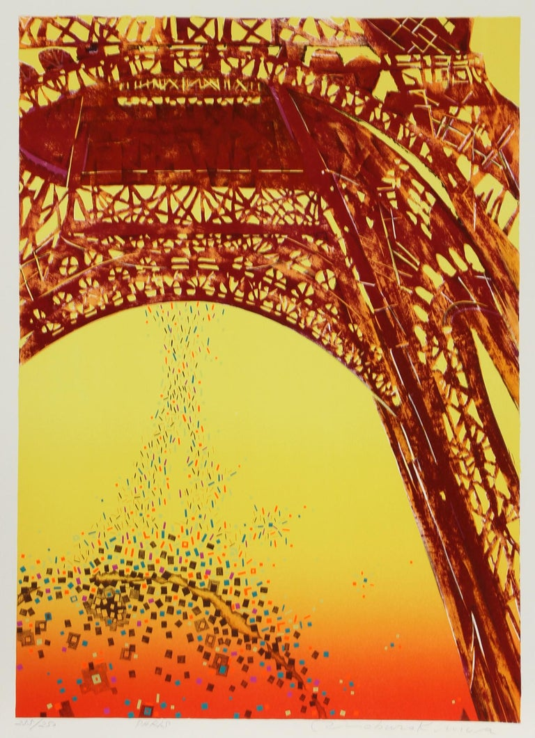 Artist: Risaburo Kimura, Japanese (1924 - ) Title: Paris Year: 1973 Medium: Silkscreen on BFK Rives, Signed, titled and numbered in pencil Edition: 250, AP 20 Size: 30 in. x 22 in. (76.2 cm x 55.88 cm)  Printer: Shorewood Atelier Publisher: