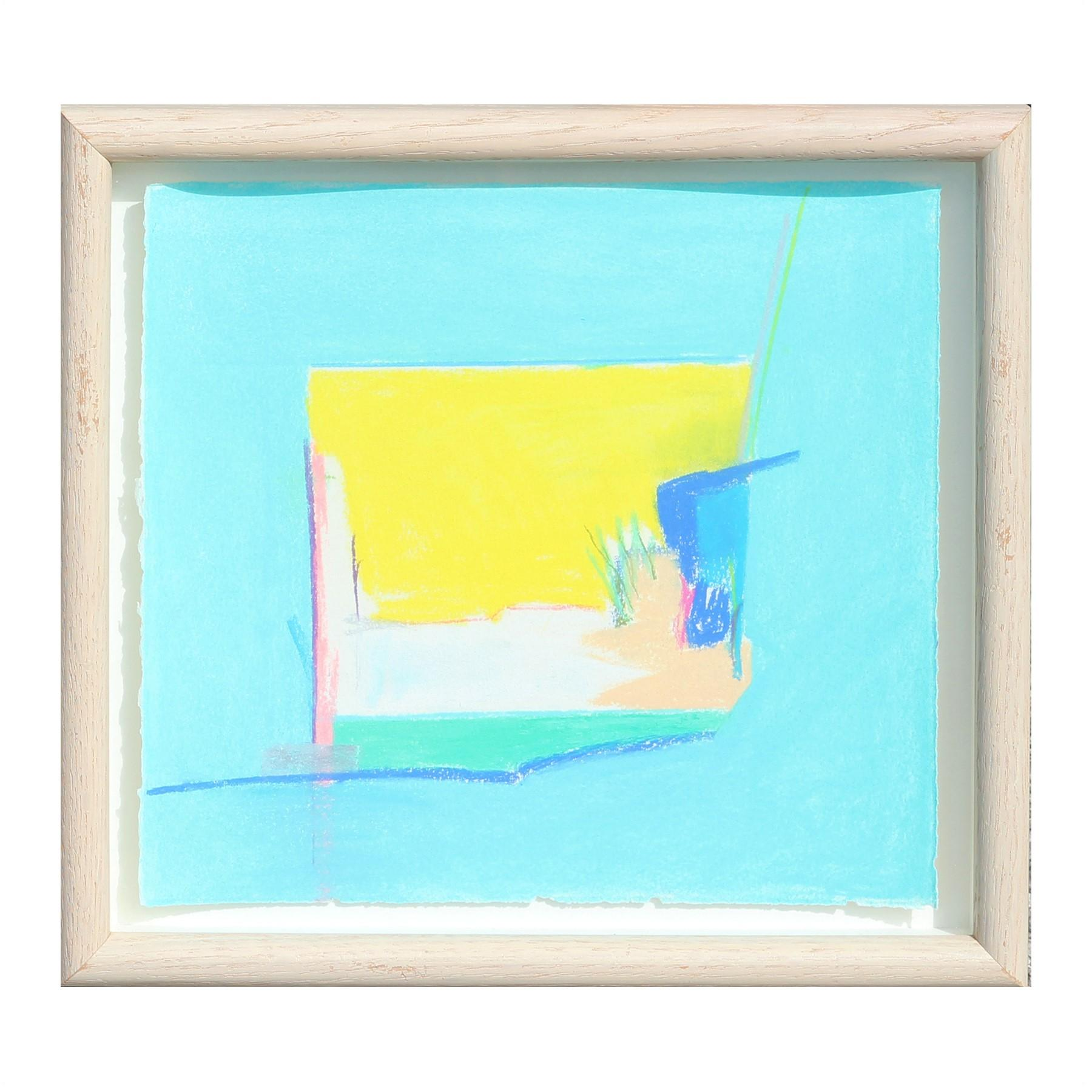 """""""Canyon Suite One"""" Abstract Blue and Yellow Palo Duro Texas Landscape Painting"""