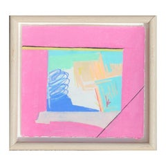 """""""Canyon Suite Six"""" Abstract Pink and Blue Palo Duro Texas Landscape Painting"""