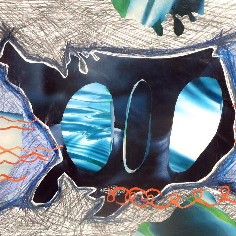 Rita Valley, Backwards Window, 2017, pen, pencil, magazine cutouts, paint - Street Art Mixed Media Art by Rita Valley