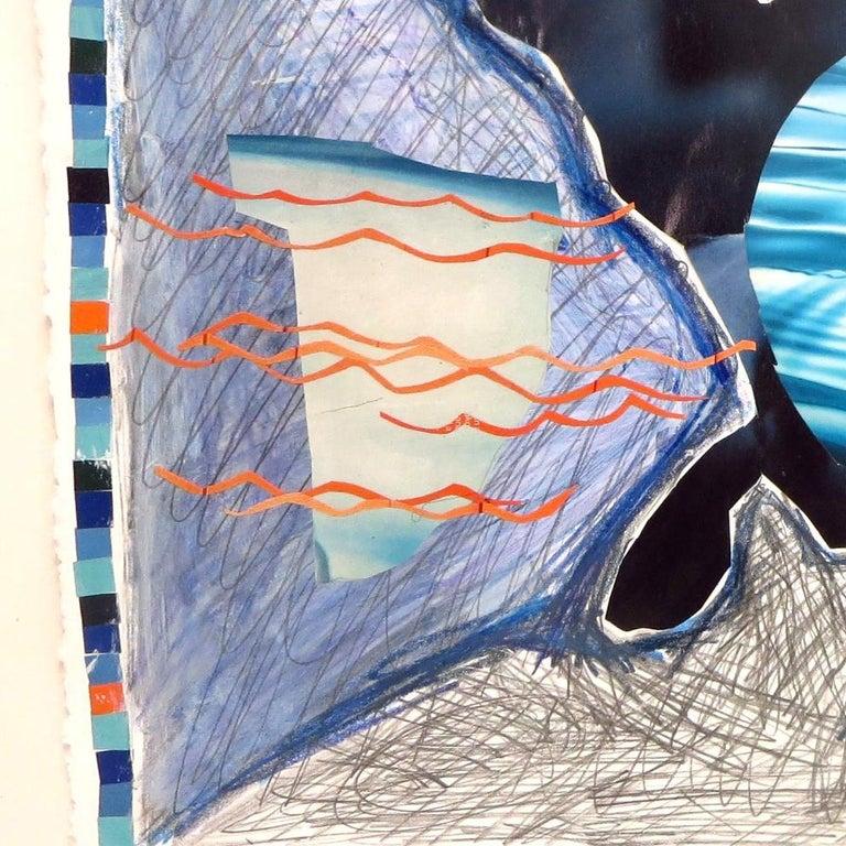 Rita Valley, Backwards Window, 2017, pen, pencil, magazine cutouts, paint For Sale 1