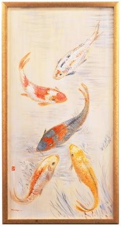 'Koi Pond' Nishikigoi, Bay Area Woman Artist, University of California, Berkeley