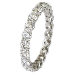 Ritani 2.10 Carat Platinum Round Diamond Eternity Wedding Band Ring